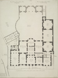 Plan of the Principal Story of Shelbourne House in Berkeley Square.